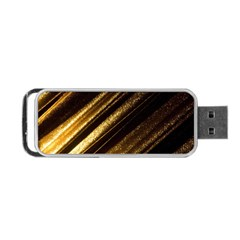 Gold Portable Usb Flash (two Sides)