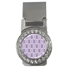 Gray Purple Money Clips (cz)