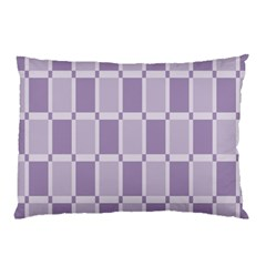 Gray Purple Pillow Case (two Sides)