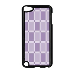 Gray Purple Apple Ipod Touch 5 Case (black)