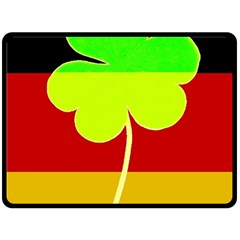 Irish German Germany Ireland Funny St Patrick Flag Fleece Blanket (large)  by yoursparklingshop