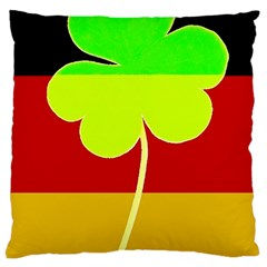 Irish German Germany Ireland Funny St Patrick Flag Large Cushion Case (two Sides) by yoursparklingshop