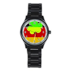 Irish German Germany Ireland Funny St Patrick Flag Stainless Steel Round Watch by yoursparklingshop