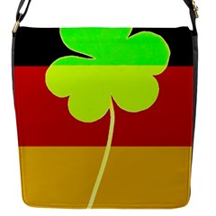Irish German Germany Ireland Funny St Patrick Flag Flap Messenger Bag (s) by yoursparklingshop