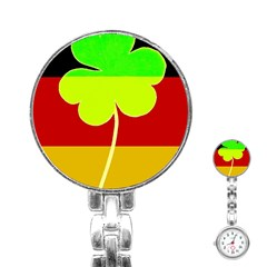 Irish German Germany Ireland Funny St Patrick Flag Stainless Steel Nurses Watch