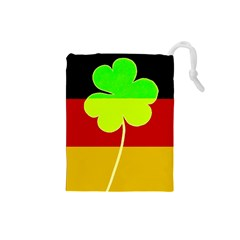 Irish German Germany Ireland Funny St Patrick Flag Drawstring Pouches (small)
