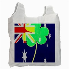 Irish Australian Australia Ireland Shamrock Funny St Patrick Flag Recycle Bag (two Side)  by yoursparklingshop