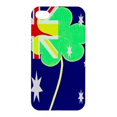 Irish Australian Australia Ireland Shamrock Funny St Patrick Flag Apple Iphone 4/4s Premium Hardshell Case by yoursparklingshop