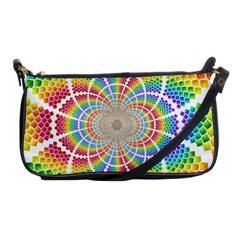 Color Background Structure Lines Shoulder Clutch Bags by Amaryn4rt