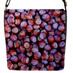 Hazelnuts Nuts Market Brown Nut Flap Messenger Bag (s) by Amaryn4rt