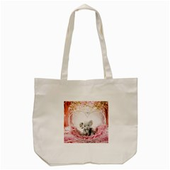 Elephant Heart Plush Vertical Toy Tote Bag (cream)