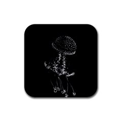 Jellyfish Underwater Sea Nature Rubber Coaster (square)  by Amaryn4rt