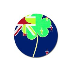 Irishshamrock New Zealand Ireland Funny St Patrick Flag Magnet 3  (round) by yoursparklingshop