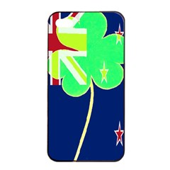 Irishshamrock New Zealand Ireland Funny St Patrick Flag Apple Iphone 4/4s Seamless Case (black) by yoursparklingshop