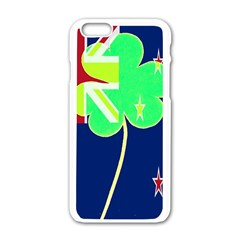 Irishshamrock New Zealand Ireland Funny St Patrick Flag Apple Iphone 6/6s White Enamel Case by yoursparklingshop