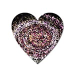 Mosaic Colorful Abstract Circular Heart Magnet Front
