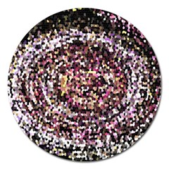 Mosaic Colorful Abstract Circular Magnet 5  (round) by Amaryn4rt