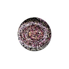 Mosaic Colorful Abstract Circular Golf Ball Marker (10 Pack) by Amaryn4rt