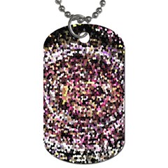 Mosaic Colorful Abstract Circular Dog Tag (two Sides)