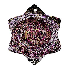 Mosaic Colorful Abstract Circular Snowflake Ornament (2 Side) by Amaryn4rt