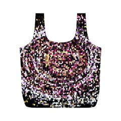 Mosaic Colorful Abstract Circular Full Print Recycle Bags (m)  by Amaryn4rt