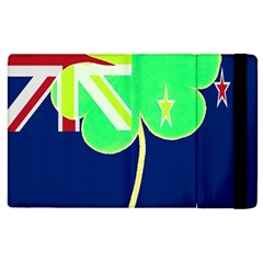 Irish Shamrock New Zealand Ireland Funny St Patrick Flag Apple Ipad 2 Flip Case by yoursparklingshop