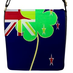 Irish Shamrock New Zealand Ireland Funny St Patrick Flag Flap Messenger Bag (s) by yoursparklingshop