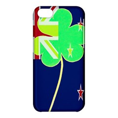 Irish Shamrock New Zealand Ireland Funny St Patrick Flag Apple Iphone 5c Hardshell Case by yoursparklingshop