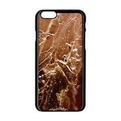 Ice Iced Structure Frozen Frost Apple Iphone 6/6s Black Enamel Case