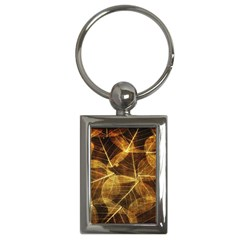 Leaves Autumn Texture Brown Key Chains (rectangle)