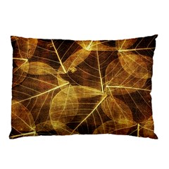 Leaves Autumn Texture Brown Pillow Case by Amaryn4rt