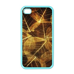 Leaves Autumn Texture Brown Apple Iphone 4 Case (color)