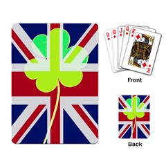 Irish British Shamrock United Kingdom Ireland Funny St  Patrick Flag Playing Card by yoursparklingshop
