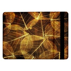 Leaves Autumn Texture Brown Samsung Galaxy Tab Pro 12 2  Flip Case