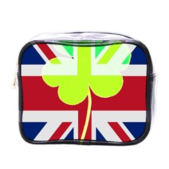 Irish British Shamrock United Kingdom Ireland Funny St  Patrick Flag Mini Toiletries Bags by yoursparklingshop