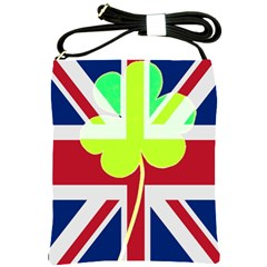 Irish British Shamrock United Kingdom Ireland Funny St  Patrick Flag Shoulder Sling Bags by yoursparklingshop