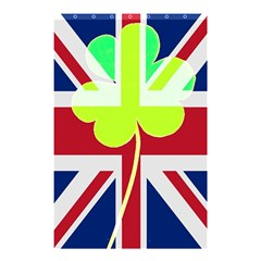 Irish British Shamrock United Kingdom Ireland Funny St  Patrick Flag Shower Curtain 48  X 72  (small)