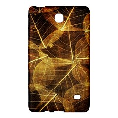 Leaves Autumn Texture Brown Samsung Galaxy Tab 4 (7 ) Hardshell Case  by Amaryn4rt
