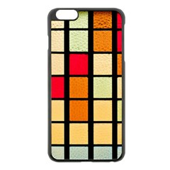 Mozaico Colors Glass Church Color Apple Iphone 6 Plus/6s Plus Black Enamel Case by Amaryn4rt