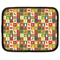 Pattern Christmas Patterns Netbook Case (large) by Amaryn4rt