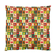 Pattern Christmas Patterns Standard Cushion Case (two Sides)