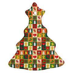 Pattern Christmas Patterns Christmas Tree Ornament (2 Sides) by Amaryn4rt