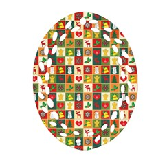 Pattern Christmas Patterns Ornament (oval Filigree)  by Amaryn4rt