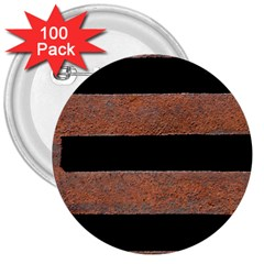 Stainless Rust Texture Background 3  Buttons (100 Pack)
