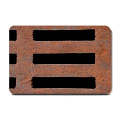 Stainless Rust Texture Background Small Doormat  by Amaryn4rt