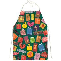 Presents Gifts Background Colorful Full Print Aprons by Amaryn4rt