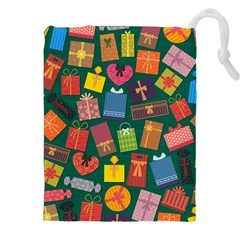 Presents Gifts Background Colorful Drawstring Pouches (xxl) by Amaryn4rt