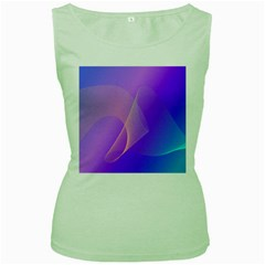 Vector Blend Screen Saver Colorful Women s Green Tank Top by Amaryn4rt