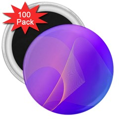 Vector Blend Screen Saver Colorful 3  Magnets (100 Pack)