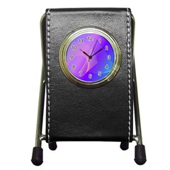 Vector Blend Screen Saver Colorful Pen Holder Desk Clocks by Amaryn4rt